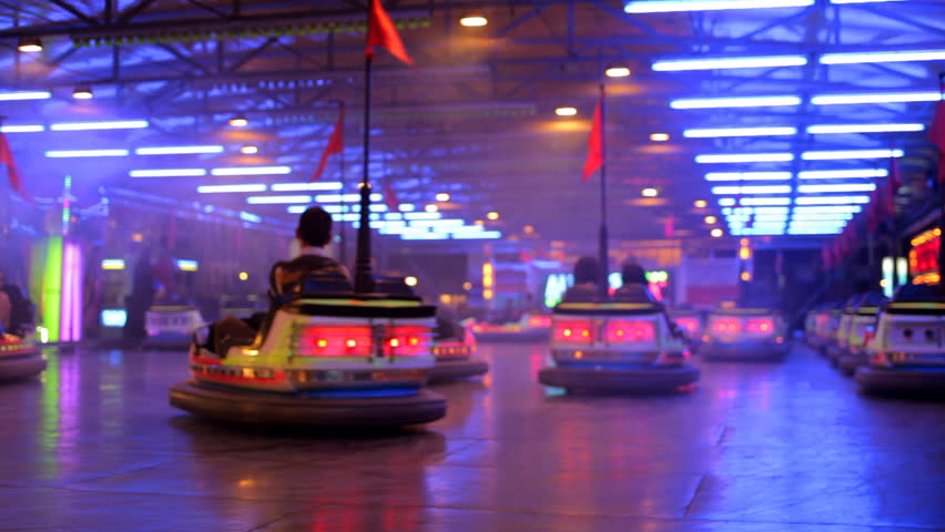 bumper cars at a carnival in spain