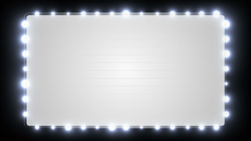 A Blank Marquee Sign With Stock Footage Video 100 Royalty Free 891349