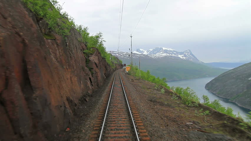 """POV travelling along a """"Iron Line"""" Kiruna - Narvik, in Norway. Audio included."""