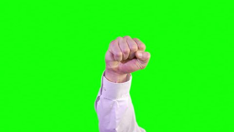 8 Angry Hand Gestures Green Screen