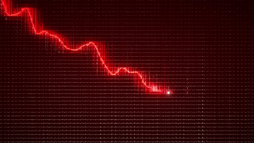 Graph moving down on chart as recession or  financial crisis  | Shutterstock HD Video #8938357