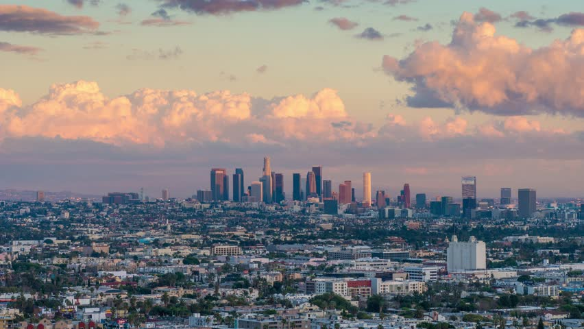 City of Los Angeles skyline changing from day to night. 4K UHD Timelapse. | Shutterstock HD Video #8980234