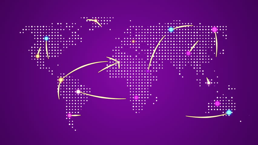 Abstract world map with colorful dots ideal for technology abstract world map with route lines and colorful dots ideal for technology broadcast background gumiabroncs Choice Image