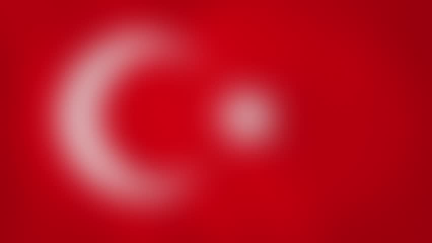 """TR - internet domain of Turkey. Typing top-level domain """".TR"""" against blurred waving national flag of Turkey. Highly detailed fabric texture for 4K resolution. Source: CGI rendering. Clip ID: ax1052c"""