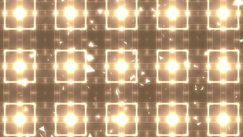 Abstract motion background in gold colors, shining lights, energy waves. Background motion with fractal design. Disco spectrum lights concert spot bulb. More sets footage  in my portfolio