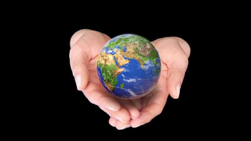 Black Hands Holding World