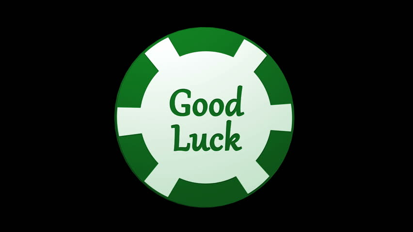 Good Luck Green Poker Chip Stock Footage Video 100 Royalty