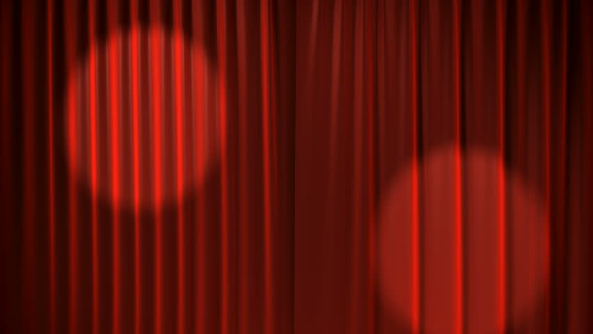 Red Curtains with spotlights that move back and forth and then the Curtains open. Alpha Channel is included.  | Shutterstock HD Video #913519