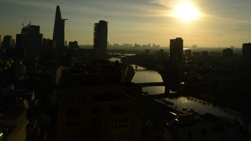 Time Lapse of Sunrise in Ho Chi Minh City (Saigon)