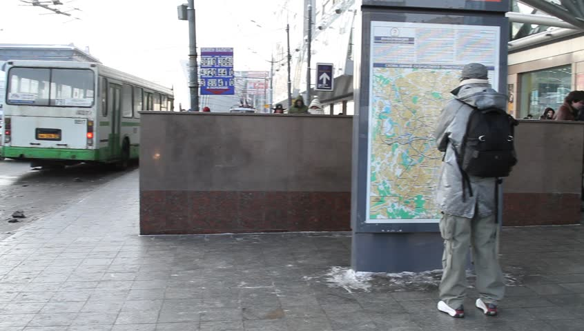 Man Looking At Subway Map.Moscow Jan 2010 Man Looking Stock Footage Video 100 Royalty Free 9162599 Shutterstock