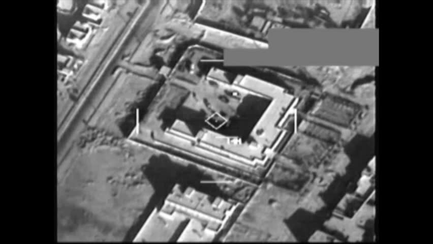 CIRCA 2010s - The U.S. strike an ISIS storage facility in Syria.