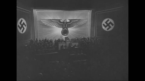 CIRCA 1930s - Nazis bomb Poland and France and England prepare to fight back in 1939.