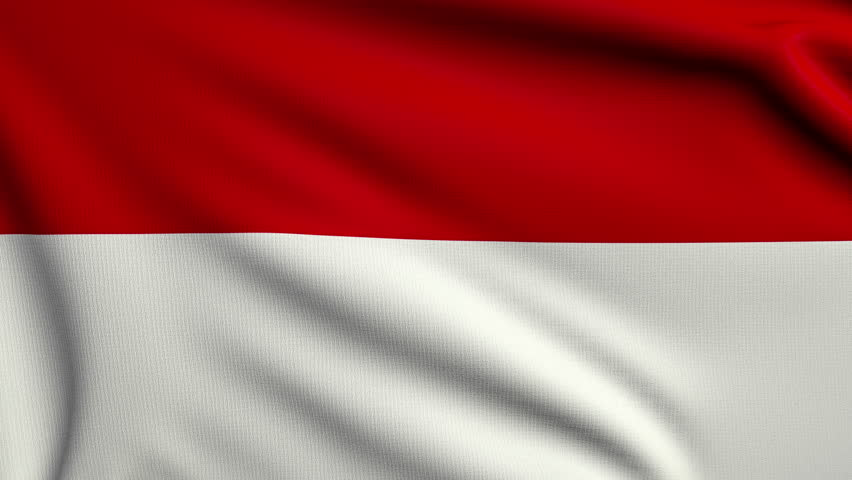 Стоковое видео 3d animation flag of indonesia абсолютно без