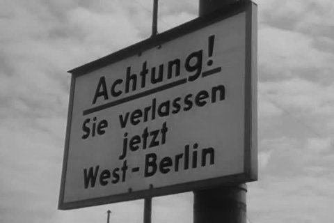 CIRCA 1960s - 1961 The Berlin Wall is erected as a physical barrier between East and West Berlin