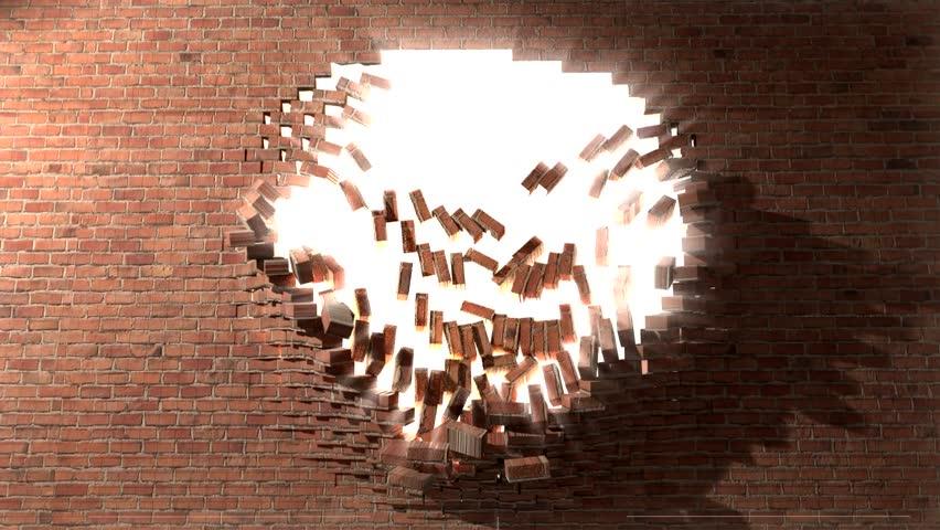 breaking through brick wall wwwpixsharkcom images