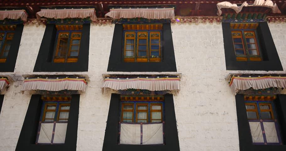 4k closeup of The Jokhang Temple In Lhasa,Tibet. gh2_09647_4k