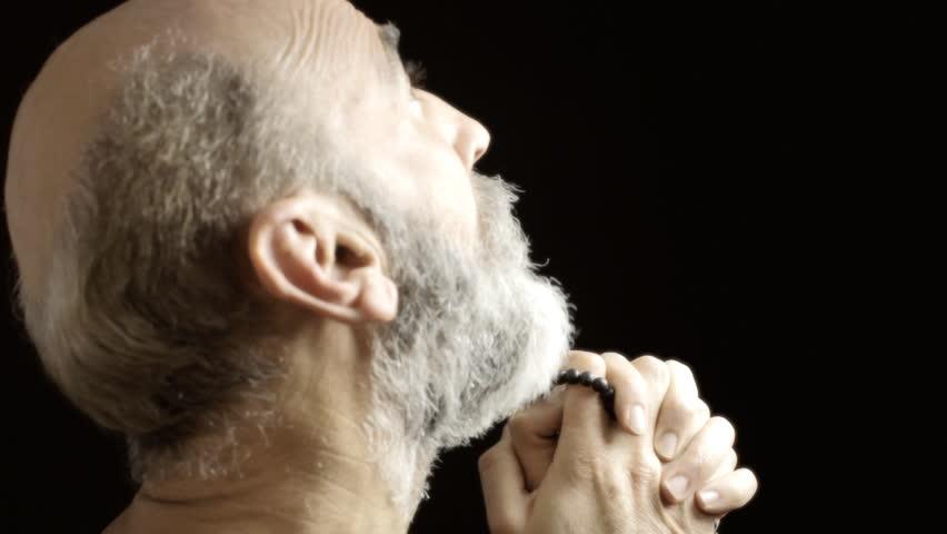 Black man praising god