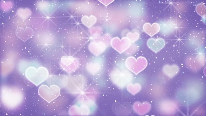 Bokeh Heart Shape Of Light Background Stock Footage Video: Gold Heart Shapes Loop Background Stock Footage Video