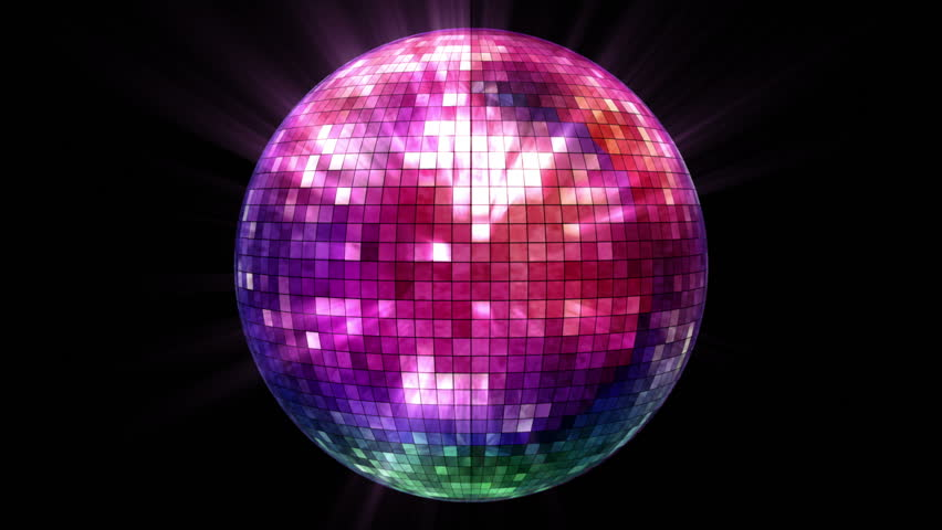 3d Disco Mirror Ball Reflecting Colorful Lights And Lasers