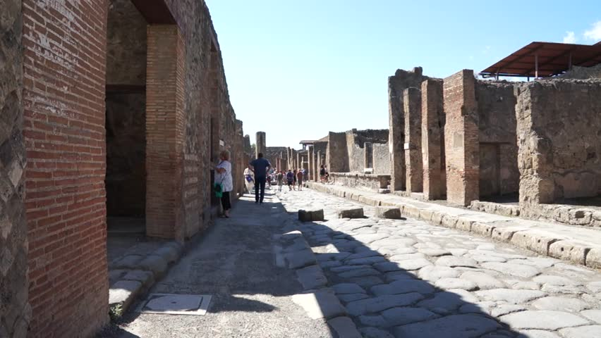 Pompei, ITALY - CIRCA 2013  Views of the streets in the ancient Italian city of Pompeii. | Shutterstock HD Video #9285749