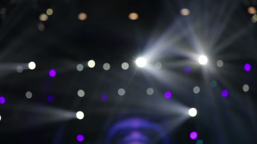 Video concert recording from perspective of audience - spectacular stage design, crowd happy and applauds | Shutterstock HD Video #9310709