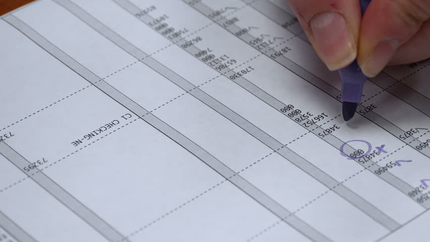 Accounting Sheet Checked and Faxed. 4k | Shutterstock HD Video #9327179