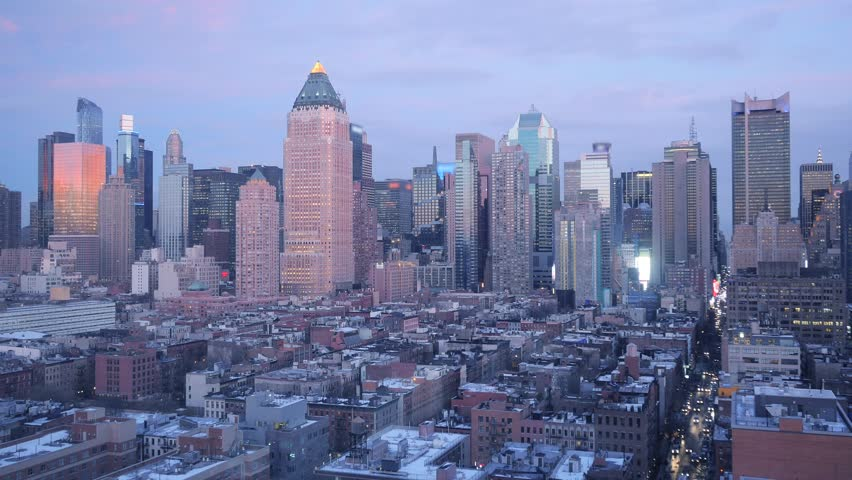New york city skyline stock footage video 1503773 shutterstock city and skyline landmark panorama view of new york city skyscraper high rise real estate voltagebd Image collections