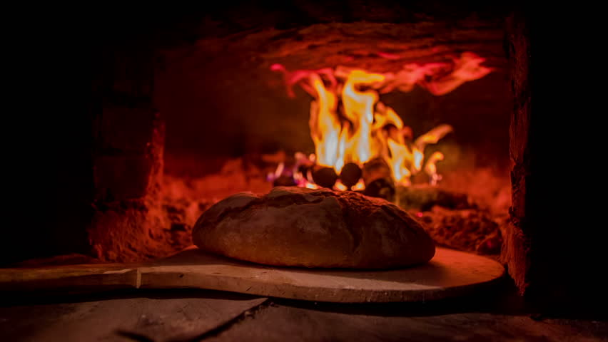 Freshly Baked Bread Going Out Stock Footage Video 100
