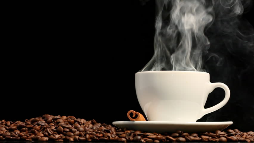 Cup of coffee on black background | Shutterstock HD Video #939739