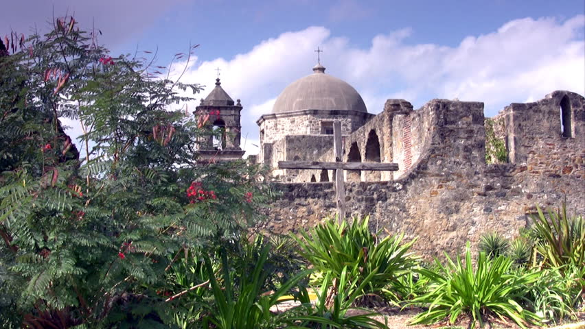 Video Time Lapse Of The Old Spanish Mission Alamo In