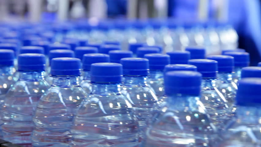Pure water bottle conveyor industry | Shutterstock HD Video #9457199