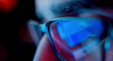 Computer Hacker Digital Crime Terrorism Steeling Private Information Reflection Glasses Crime Network Technology Uhd 4K