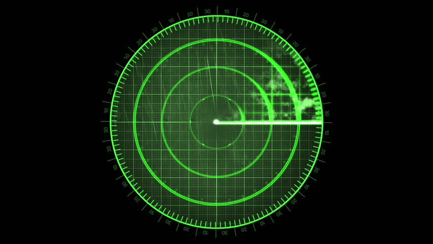 Radar Detection Screen Scanning Loop Stock Footage Video