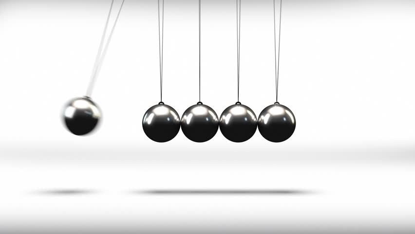 loopable video 3840x2160 uhd newtons cradle in slow
