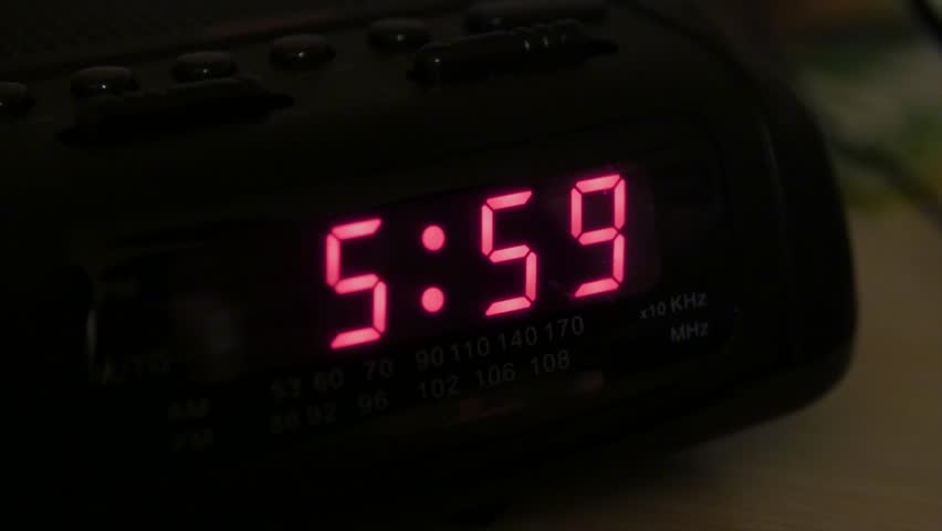 Alarm Clock Going Off At 6 AM Stock Footage Video 2631077