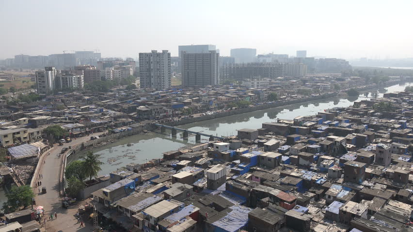 Overview Of A Large Slum Area With The Bandra Kurla