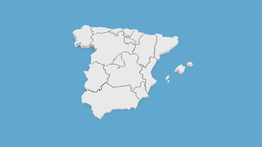 3d Map Of Spain.Three Dimensional Map Of Spain 3d Stock Footage Video 100 Royalty Free 9524099 Shutterstock