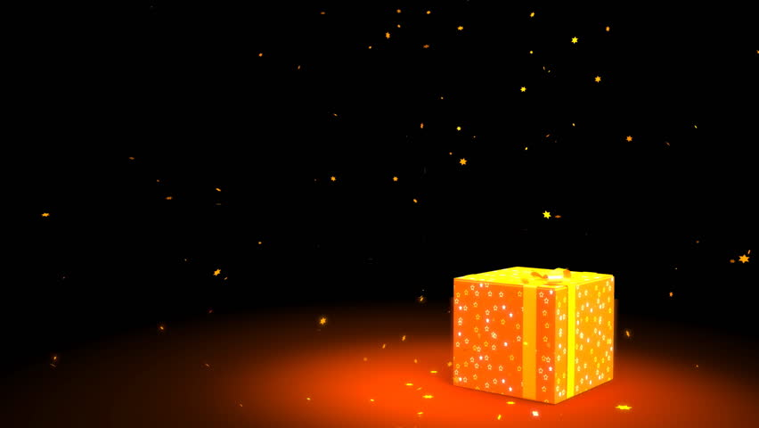 A 3D rendered yellow box setting on a yellow background with out of focus fairy light.