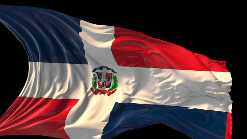 dominican republic flag stock footage video | shutterstock