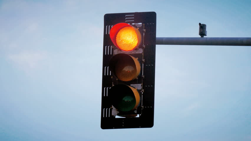 Traffic light turns from red to green loop