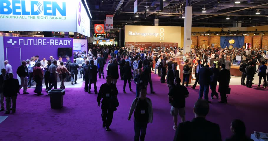 LAS VEGAS, NV - April 15: NAB Show 2015 exhibition in Las Vegas Convention Center. NAB Show is an annual trade show produced by the National Association of Broadcasters. April 13-16.
