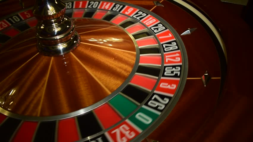 Spinning roulette wheel at a casino has slowed gambling tv series