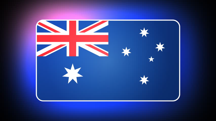 Australian 3D flag - HD loop