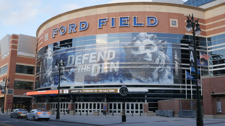 DETROIT, MICHIGAN / U.S.- DECEMBER 30, 2014:  Ford Field sits empty as it awaits another NFL season.