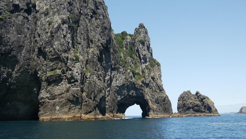 The Hole in the Rock at Percy Island/Motuk?kako Bay of Islands, New Zealand