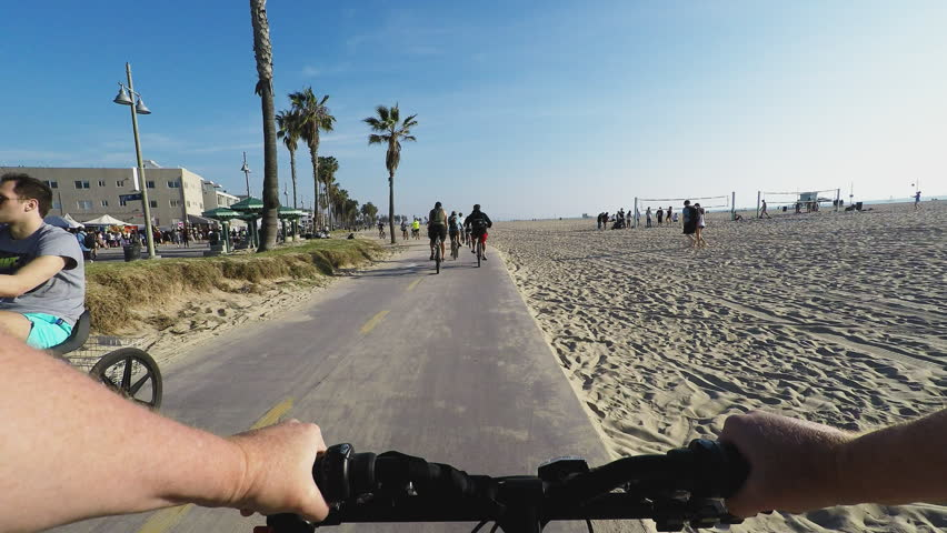 Venice Beach Ca Usa March 19 2014 Viewpoint Pov Point Of View