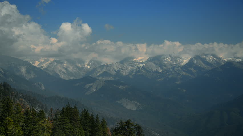 Sequoia National Park View from Moro Rock Timelapse 04 SIerra Nevada Mts Cloudscape | Shutterstock HD Video #9721109