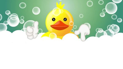 Funny squeaky duck rubber duck cartoon illustration