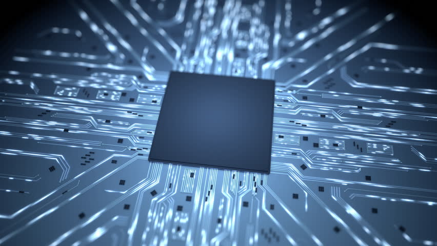 Big data chip background intro Animated background showing massive computational activity. This clip has a short intro sequence. | Shutterstock HD Video #9731219