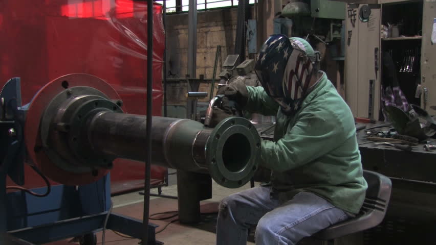 Man Welding in Factory 1
